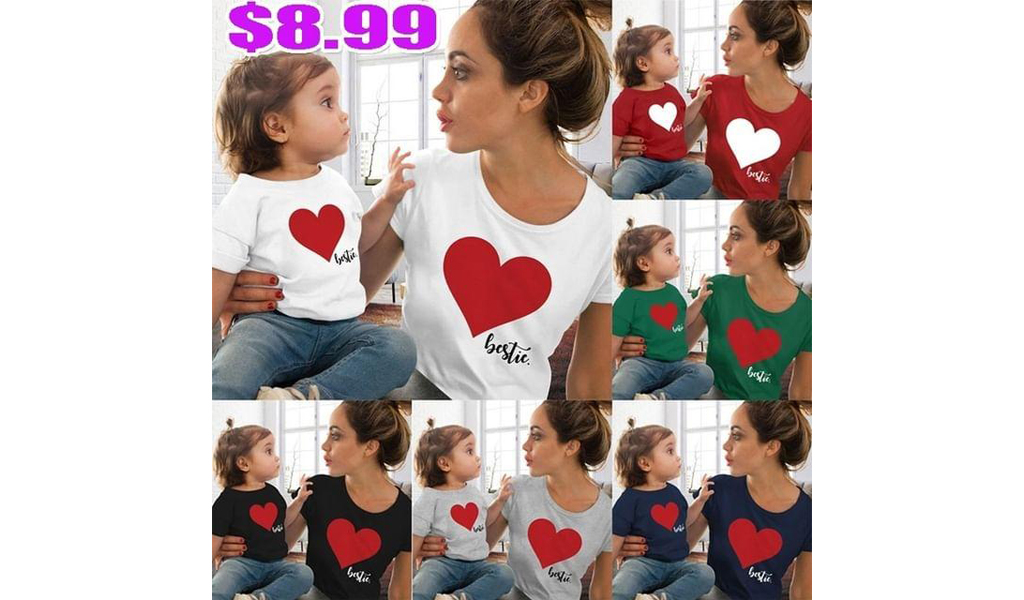 Mommy And Me T-Shirts 6 colors+Free Shipping!