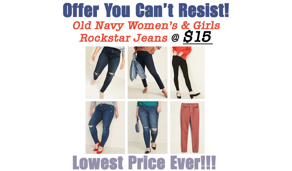 Old Navy Women's Jeans Just $15 (Regularly up to $50) | Today Only