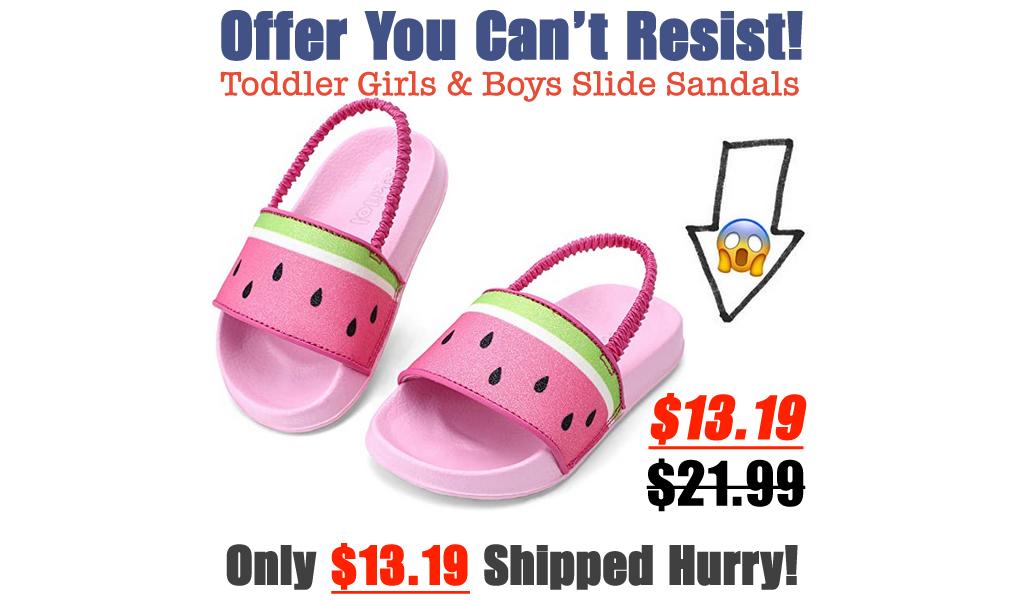 Toddler Girls & Boys Slide Sandals Only $13.19 Shipped on Amazon (Regularly $21.99)