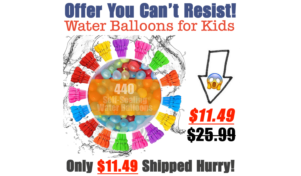 Water Balloons for Kids Only $11.49 Shipped on Amazon (Regularly $25.99)