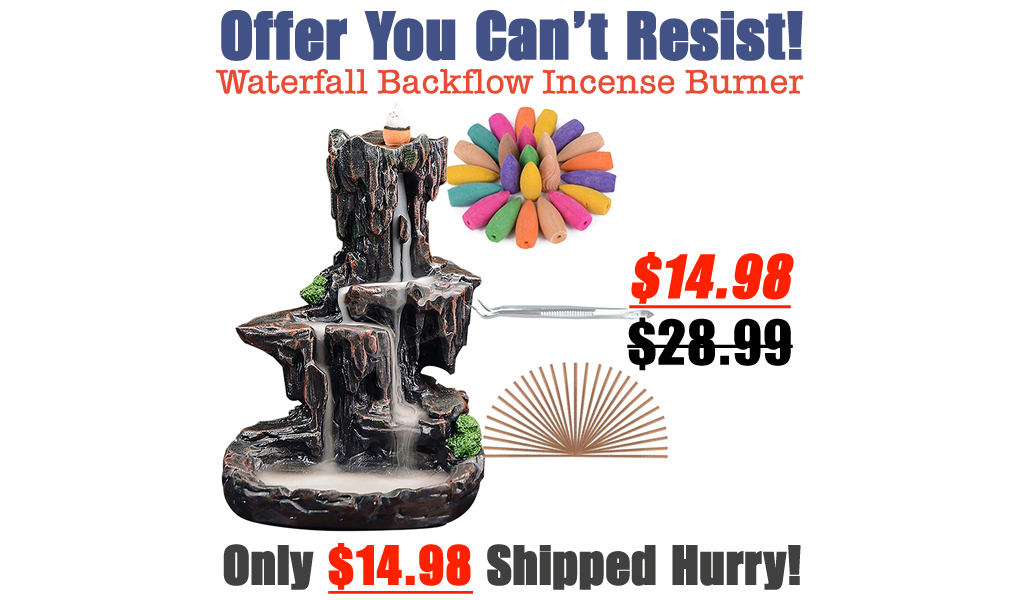 Waterfall Backflow Incense Burner Only $14.98 Shipped on Amazon (Regularly $28.99)