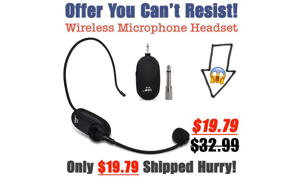 Wireless Microphone Headset Only $19.79 Shipped on Amazon (Regularly $32.99)