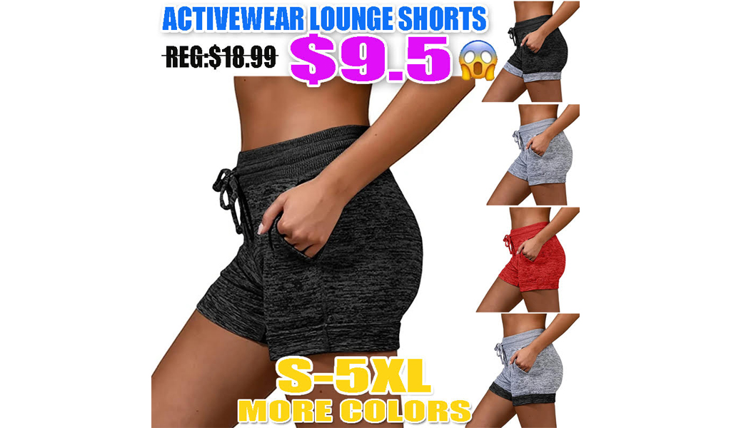 Women Activewear Lounge Shorts With Pockets S-5XL+Free Shipping!