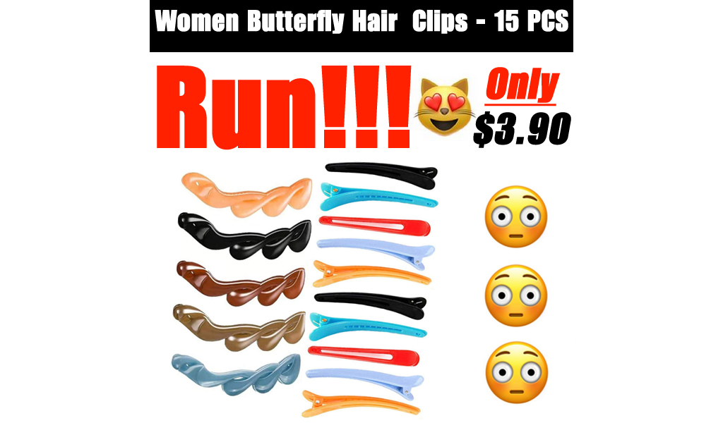 Women Butterfly Hair Clips - 15 PCS Only $3.90 Shipped on Amazon (Regularly $13.99)