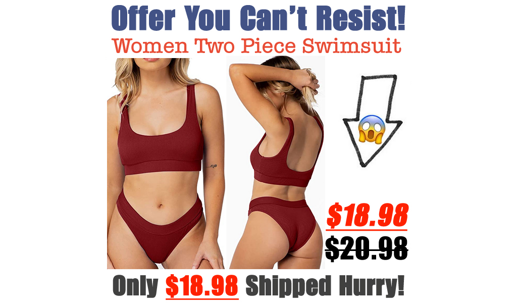 Women Sports Two Piece Swimsuit Only $18.89 Shipped on Amazon (Regularly $20.99)