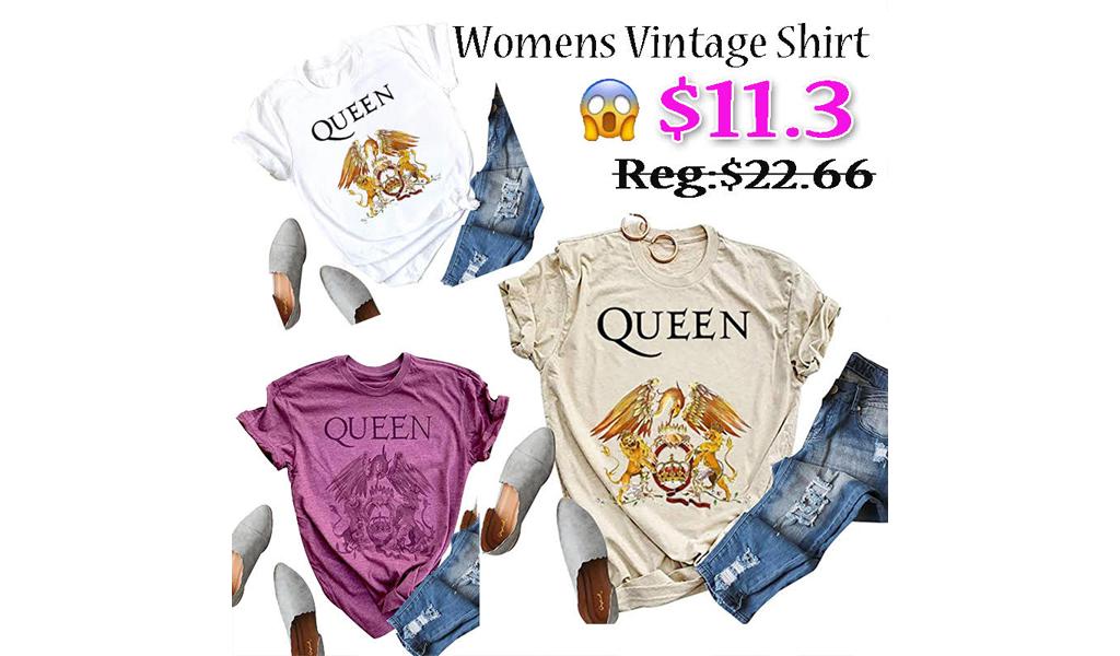 Womens Vintage Casual Tshirt+Free Shipping!