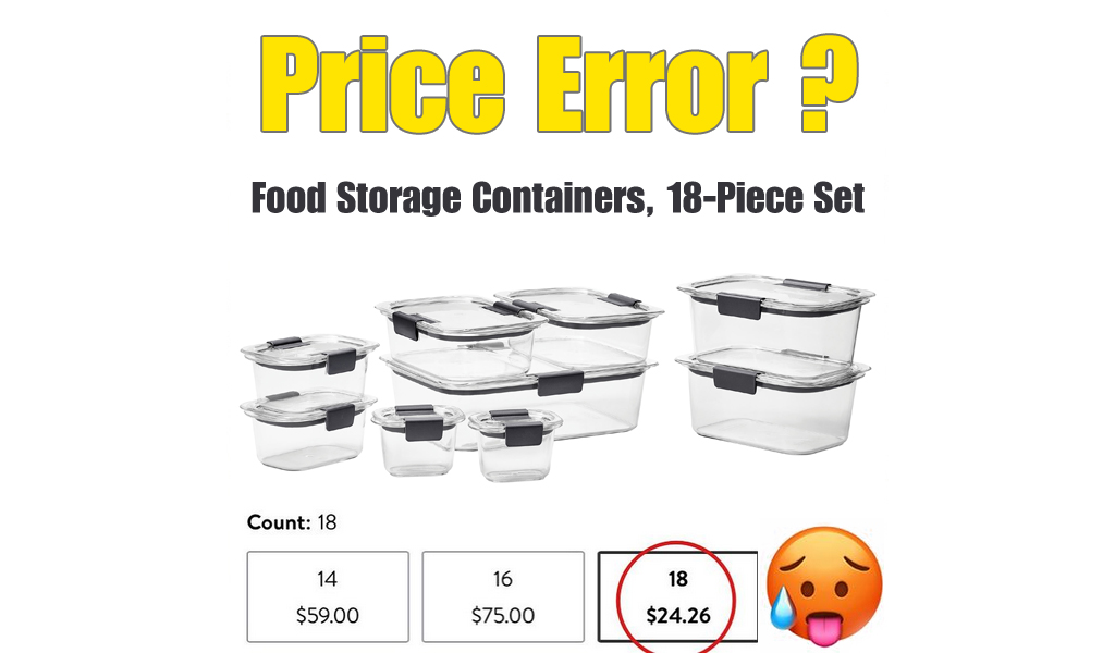 Food Storage Containers, 18-Piece Set from Just $24.26 on Walmart