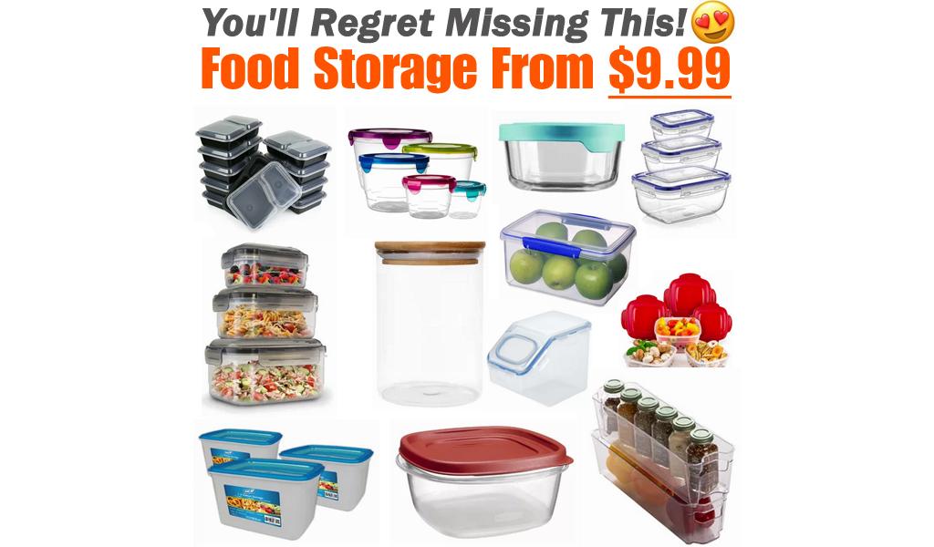 Food Storage From $9.99 @ Wayfair