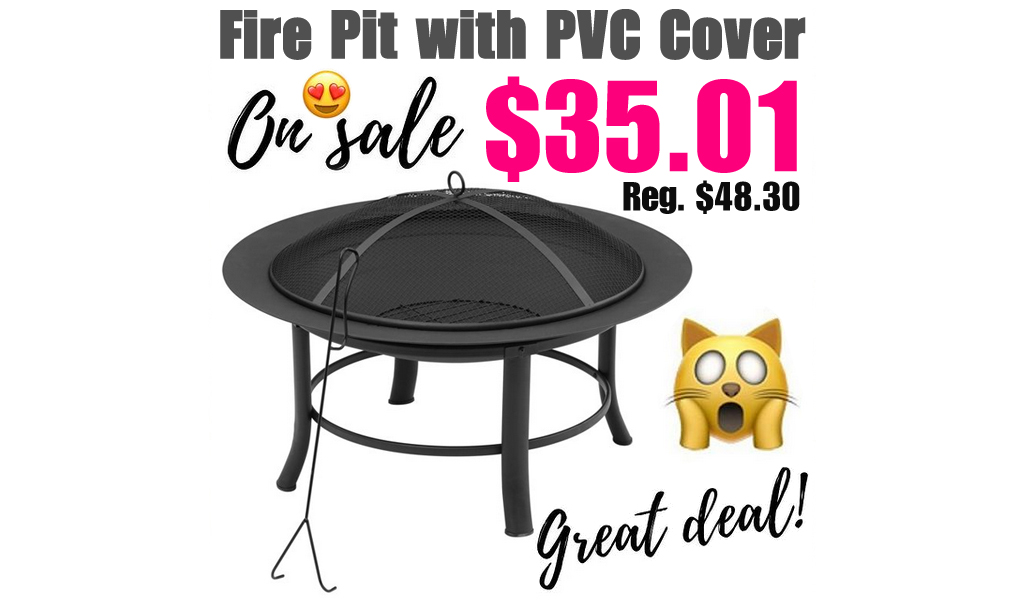 Mainstays Fire Pit w/ Cover & Spark Guard Only $35 Shipped on Walmart.com (Regularly $49)