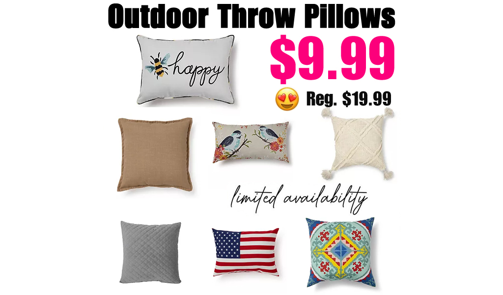 Outdoor Throw Pillows from $5.66 Each (Regularly $20)