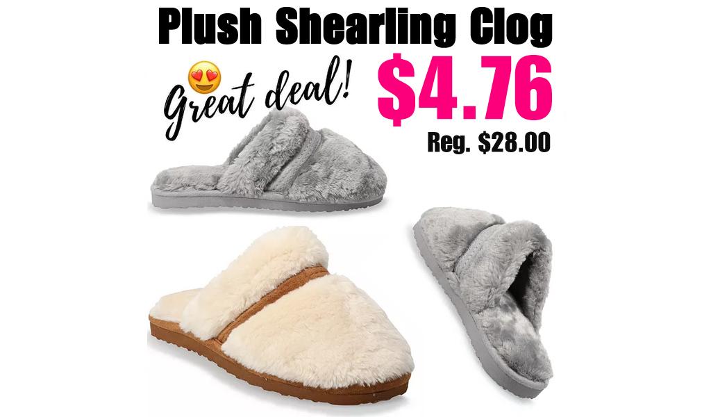 Plush Shearling Clog Only $4.76 on Kohl's.com (Regularly $28.00)