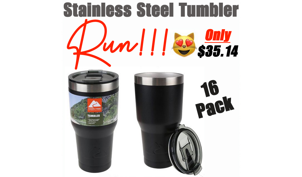 Stainless Steel Tumbler - 16 Pack Only $35.14 Shipped on Walmart
