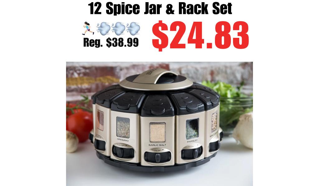 12 Spice Jar & Rack Set Only $24.83 on Wayfair (Regularly $38.99)