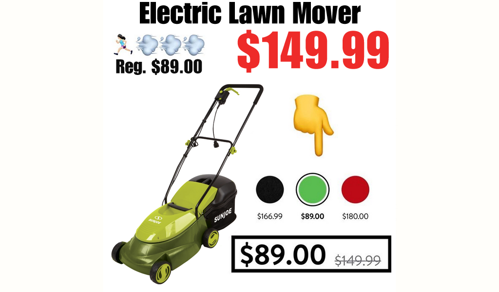 Electric Lawn Mover Only $89.00 Shipped on Walmart.com (Regularly $149.99)
