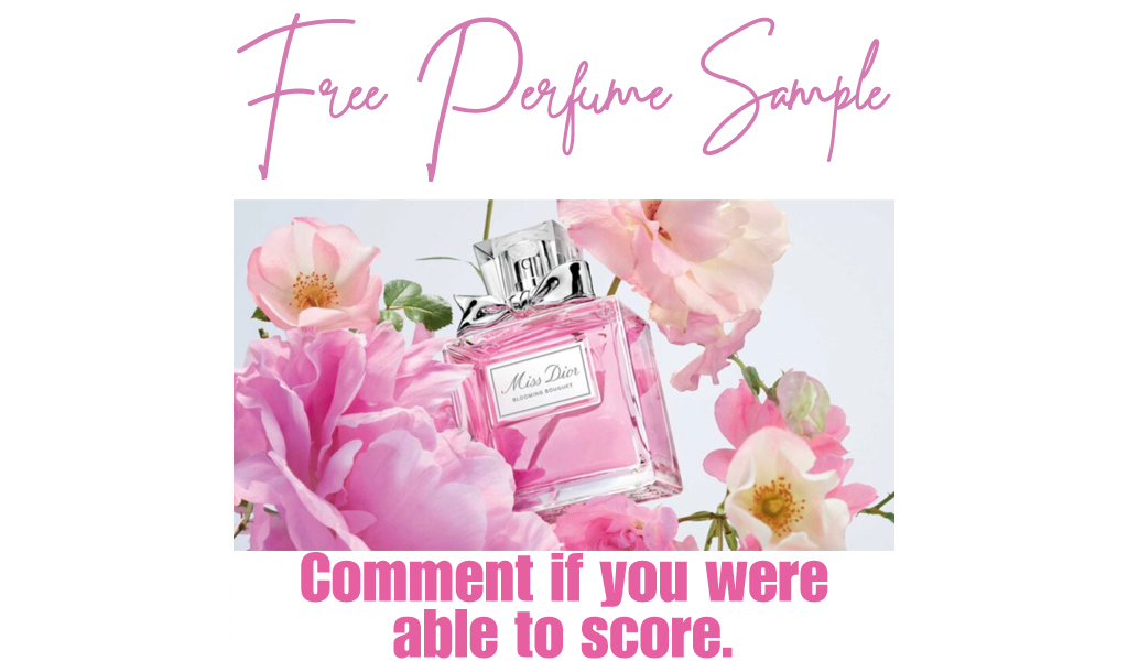FREE Miss Dior Blooming Bouquet Perfume Sample