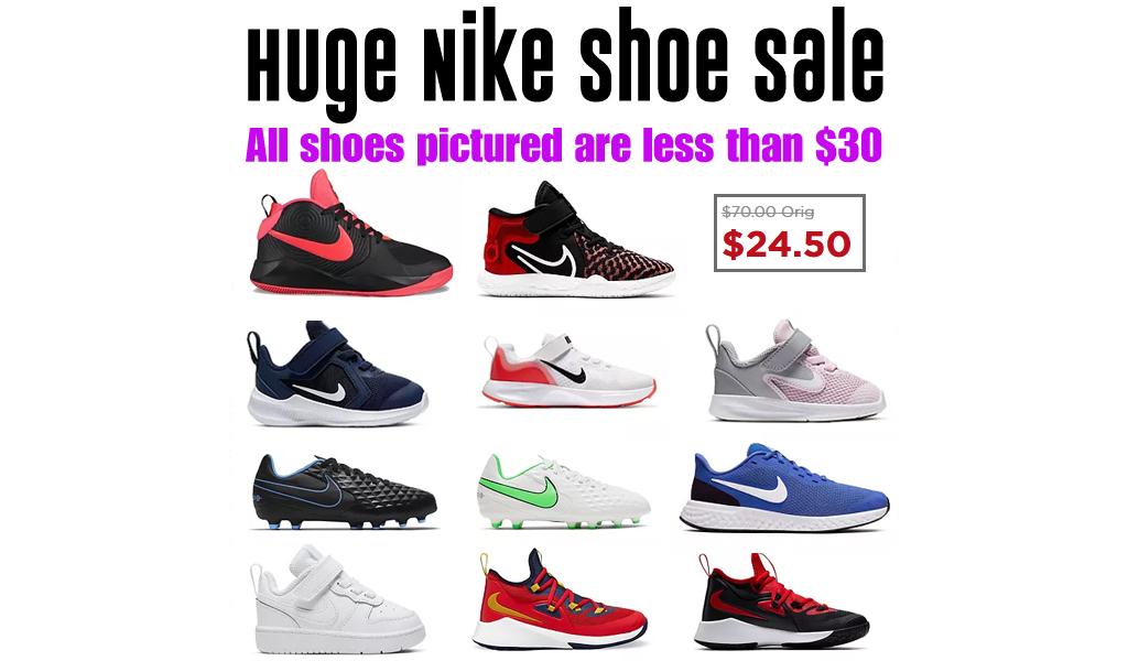 Huge Nike Shoe Sale at Kohl's