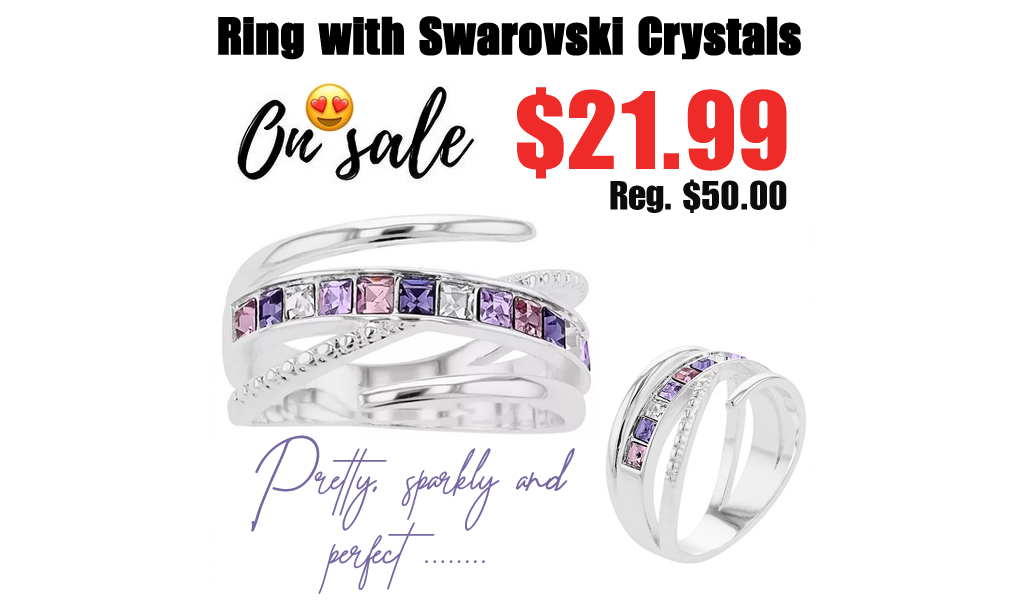 Ring with Swarovski Crystals Only $21.99 on Kohls.com (Regularly $50.00)