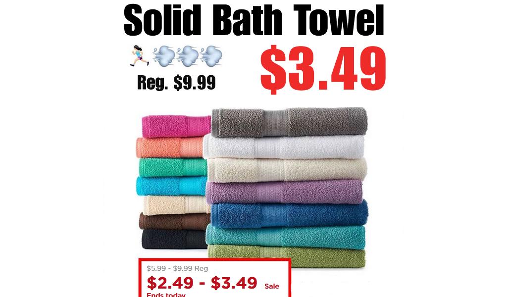 Solid Bath Towel Only $3.49 on Kohls.com (Regularly $9.99)
