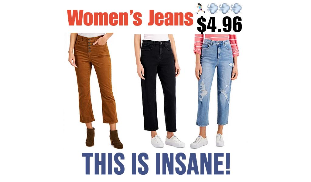 Women's Jeans from $4.96 on Macys