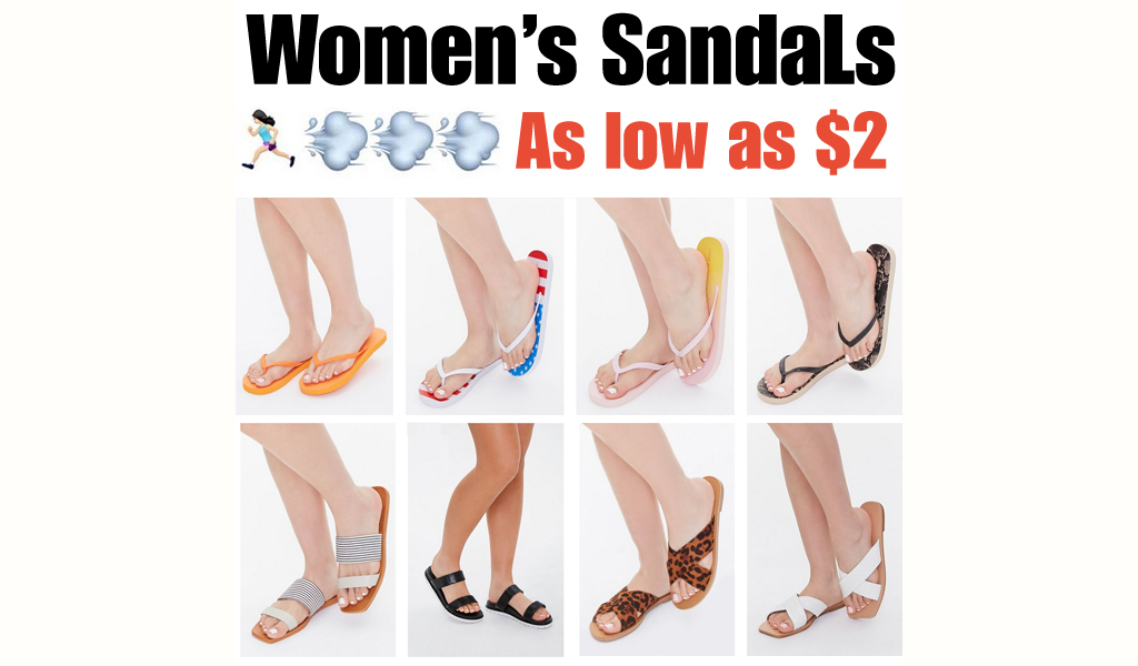 Women's Sandals - As low as $2