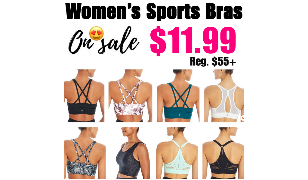 Women's Sports Bras from $11.99 on Zulily (Regularly $55+)