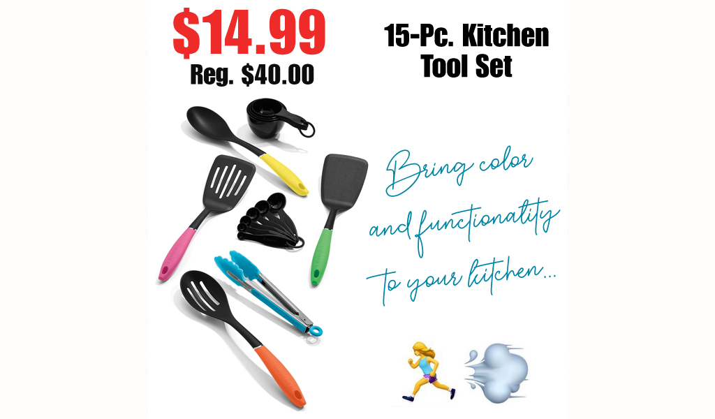 15-Pc. Kitchen Tool Set Only $14.99 on Macys.com (Regularly $40.00)