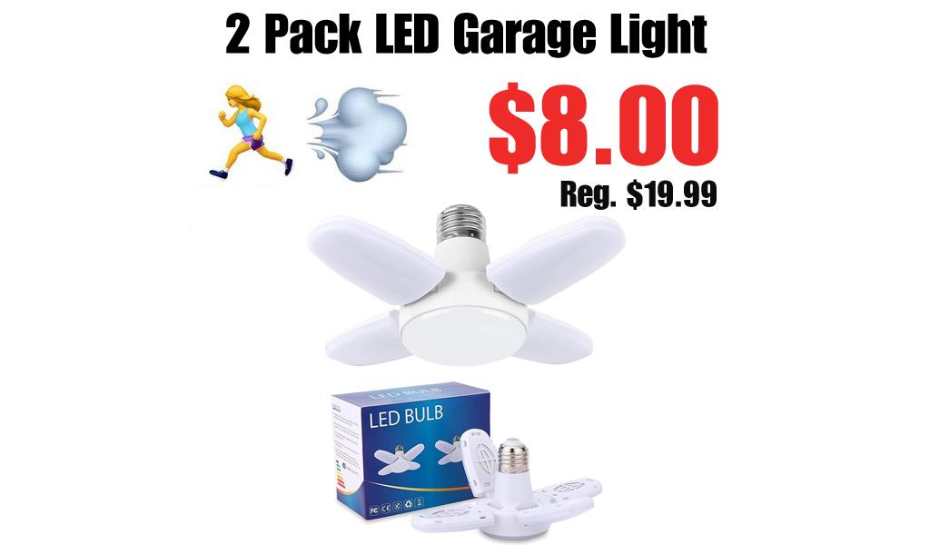 2 Pack LED Garage Light Only $8.00 Shipped on Amazon (Regularly $19.99)