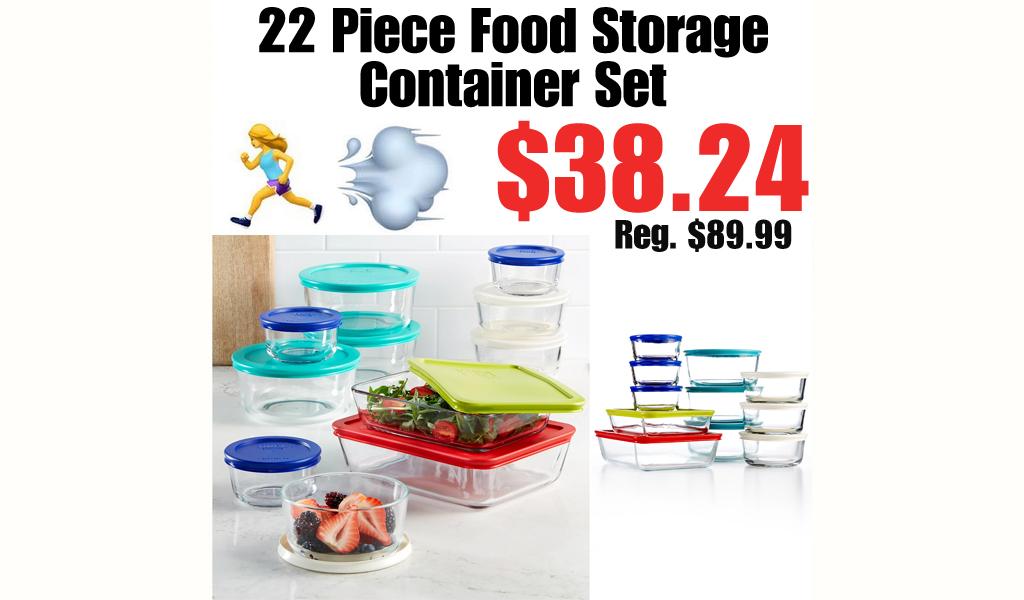 22 Piece Food Storage Container Set Just $38.24 on Macys.com (Regularly $89.99)