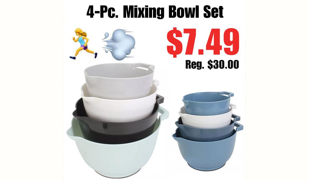 4-Pc. Mixing Bowl Set Only $7.49 on Macys.com (Regularly $30.00)