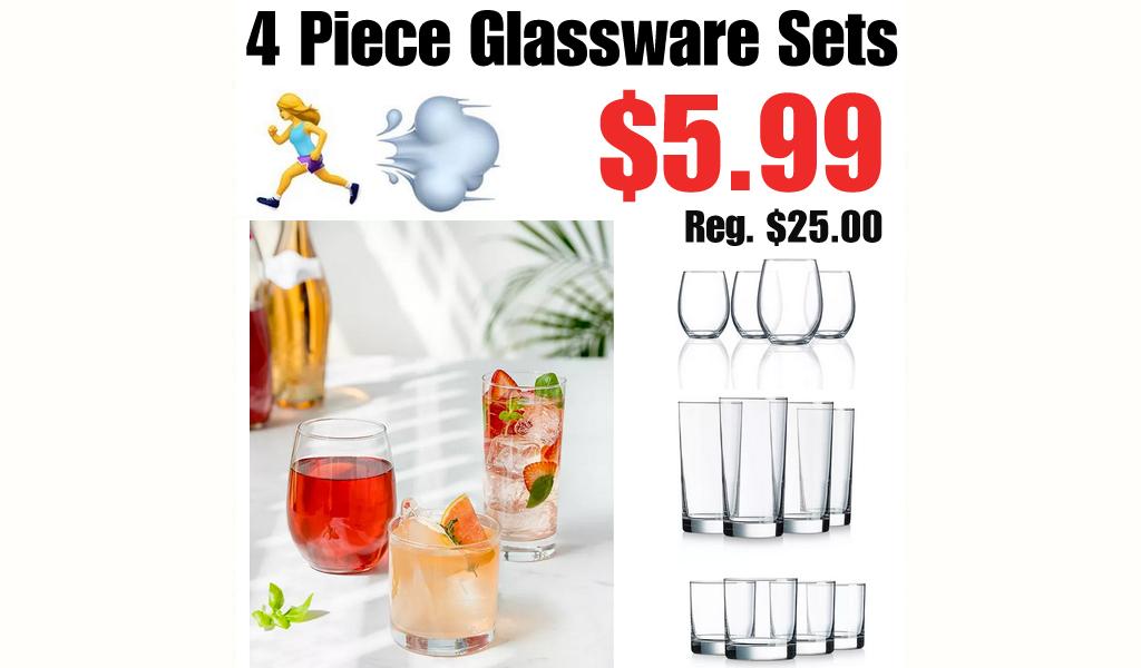4 Piece Glassware Sets Only $5.99 on Macys.com (Regularly $25.00)