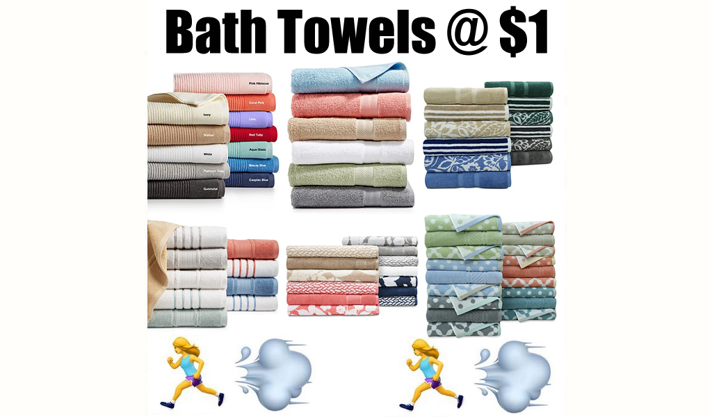 Highly Rated Bath Towels from $1.00 on Macys