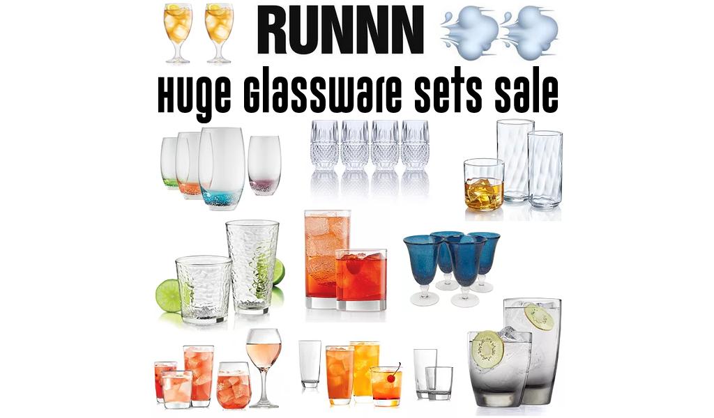 Huge Glassware Sets Sale at Kohl's