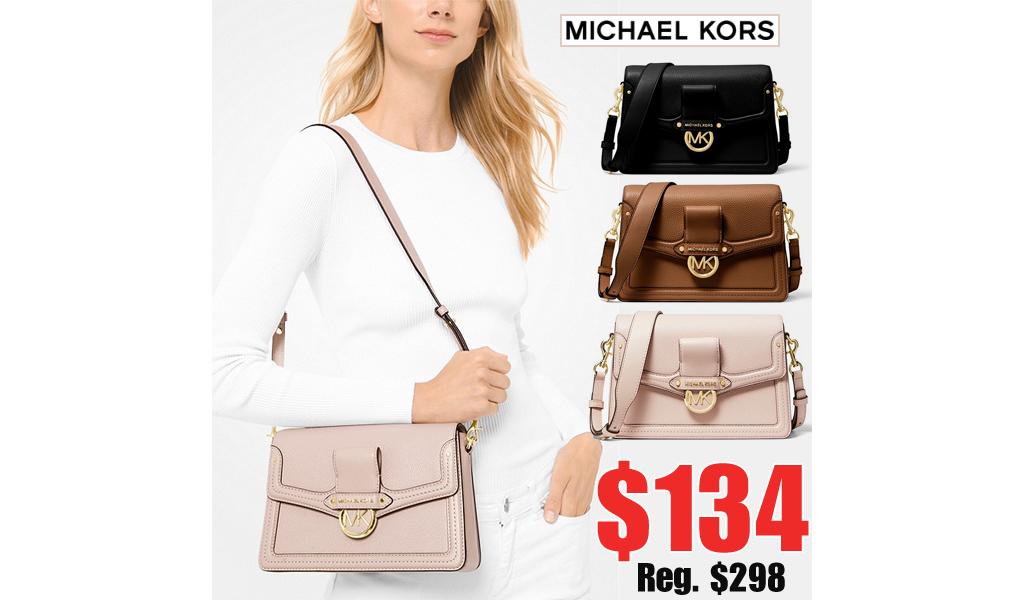 Michael Kors Leather Shoulder Bag Only $134 on MichaelKors.com (Regularly $298)