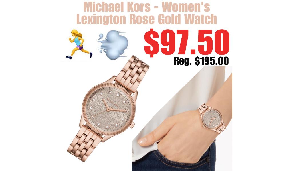 Michael Kors - Women's Lexington Rose Gold Watch Only $97.50 on Macys.com (Regularly $195.00)