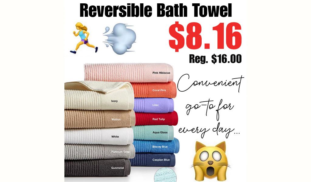 Reversible Bath Towel Only $8.16 on Macys.com (Regularly $16.00)