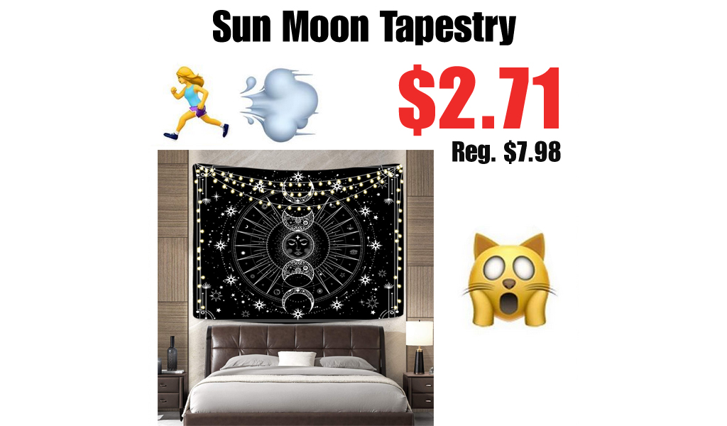 Sun Moon Tapestry Only $2.71 Shipped on Amazon (Regularly $7.98)