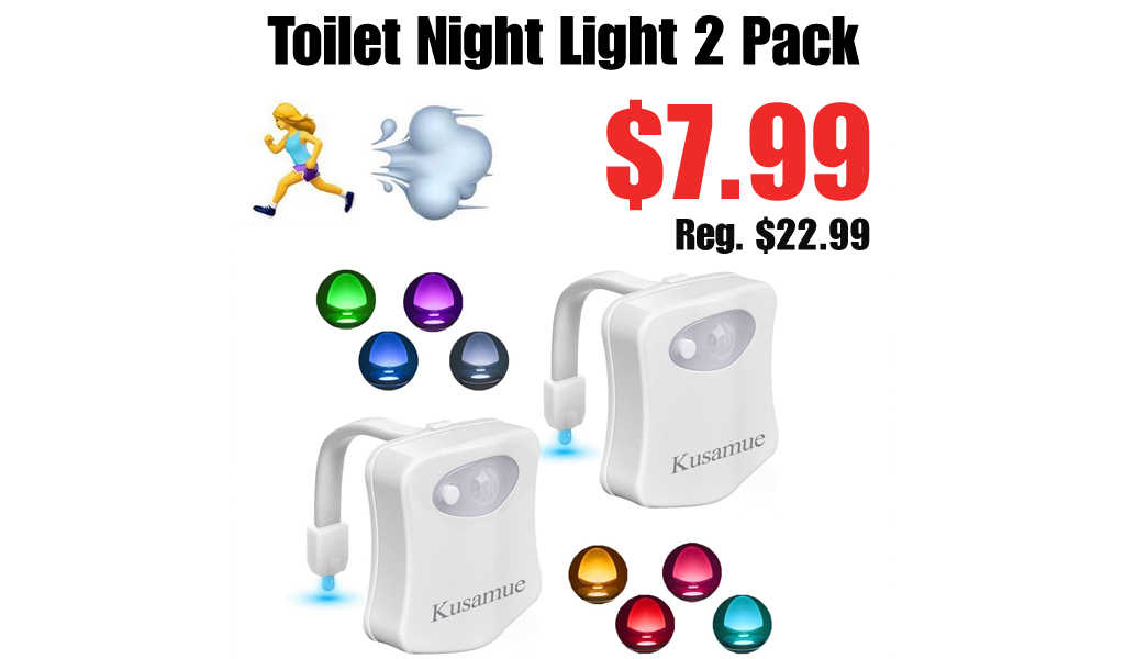 Toilet Night Light 2 Pack Only $7.99 Shipped on Amazon (Regularly $22.99)
