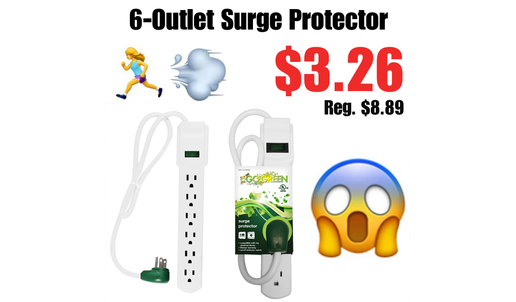 6-Outlet Surge Protector Only $3.26 on Walmart.com (Regularly $9)