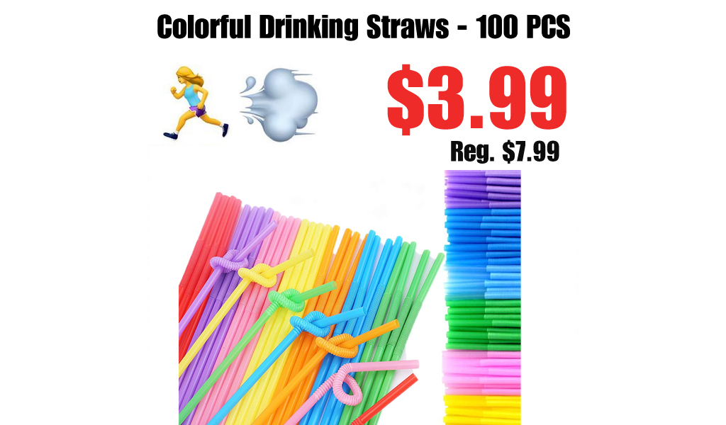 Colorful Drinking Straws - 100 PCS Only $3.99 Shipped on Amazon (Regularly $7.99)