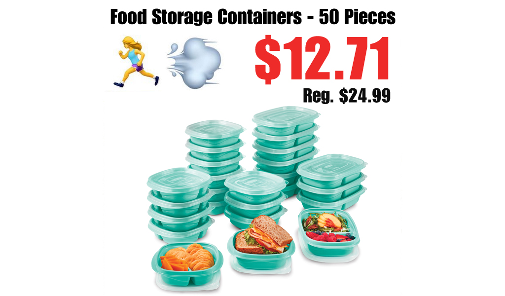 Food Storage Containers - 50 Pieces Just $12.71 on Walmart.com (Regularly $24.99)