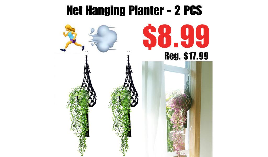 Net Hanging Planter - 2 PCS Only $8.99 Shipped on Amazon (Regularly $17.99)