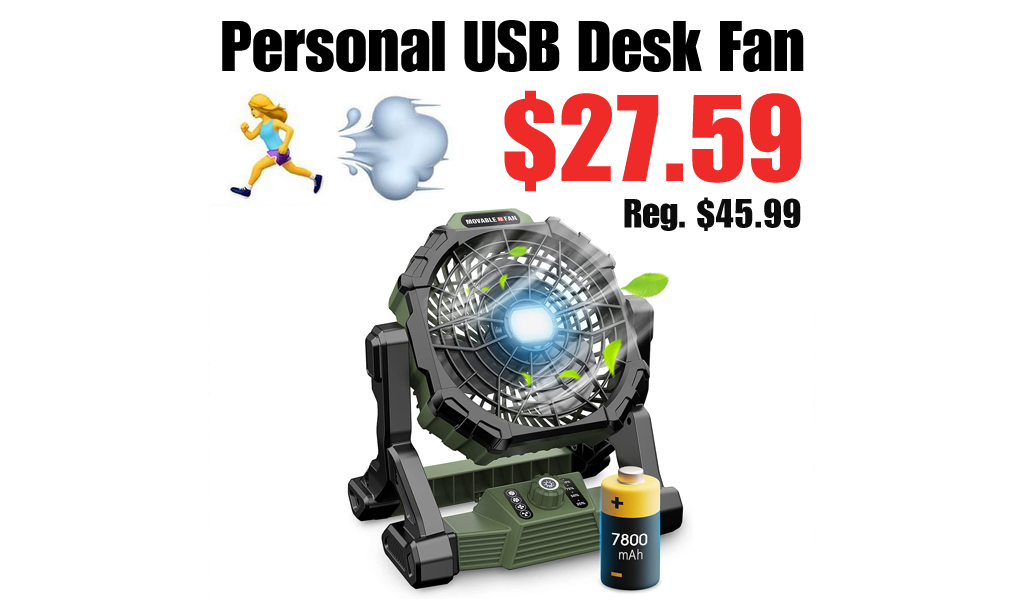 Personal USB Desk Fan Only $27.59 Shipped on Amazon (Regularly $45.99)