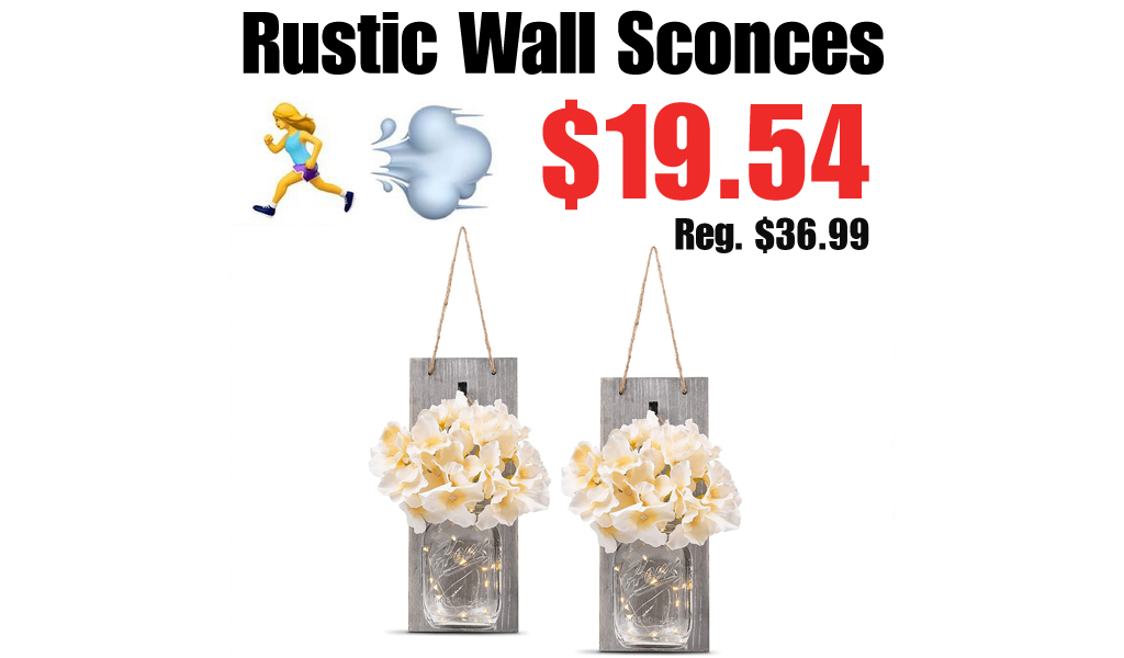 Rustic Wall Sconces Only $19.54 Shipped on Amazon (Regularly $36.99)