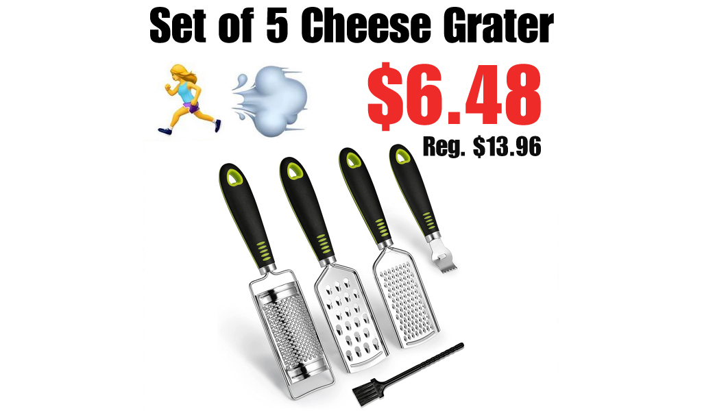 Set of 5 Cheese Grater Only $6.48 Shipped on Amazon (Regularly $13.96)