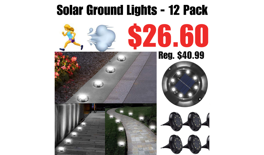 Solar Ground Lights - 12 Pack Only $26.60 Shipped on Amazon (Regularly $40.99)