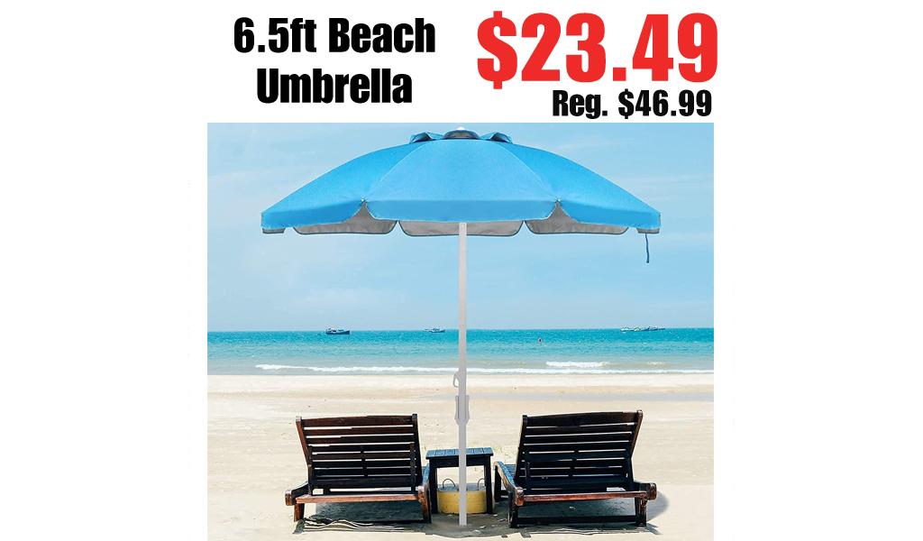 6.5ft Beach Umbrella Only $23.49 Shipped on Amazon (Regularly $46.99)