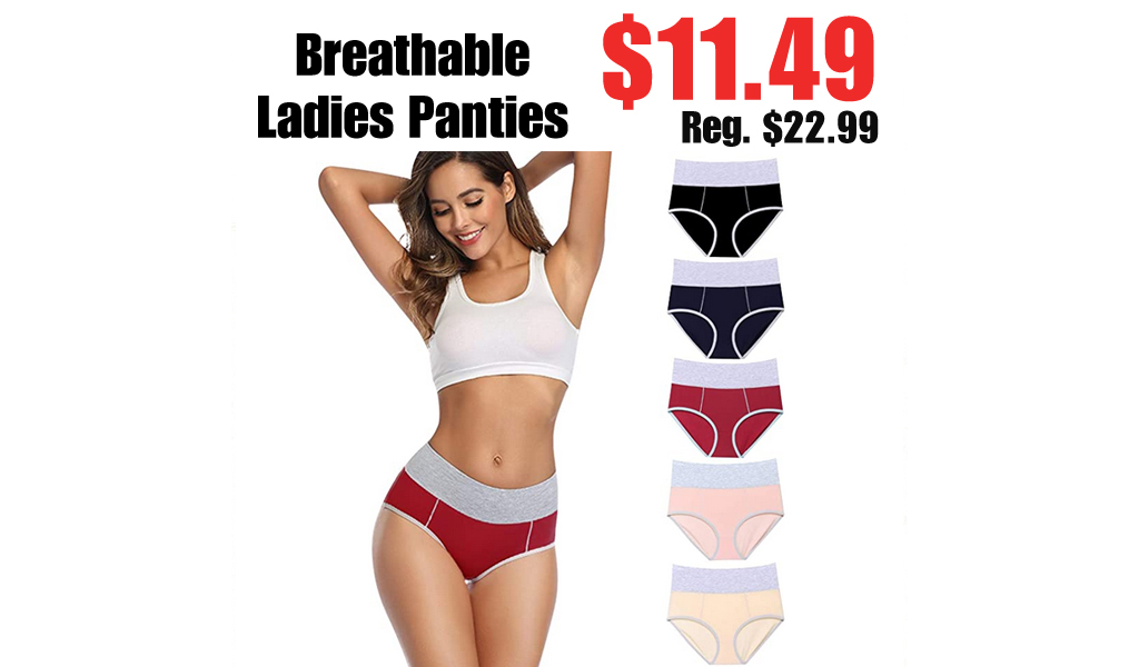 Breathable Ladies Panties Only $11.49 Shipped on Amazon (Regularly $22.99)