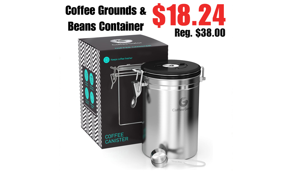 Coffee Grounds and Beans Container Only $18.24 Shipped on Amazon (Regularly $38.00)