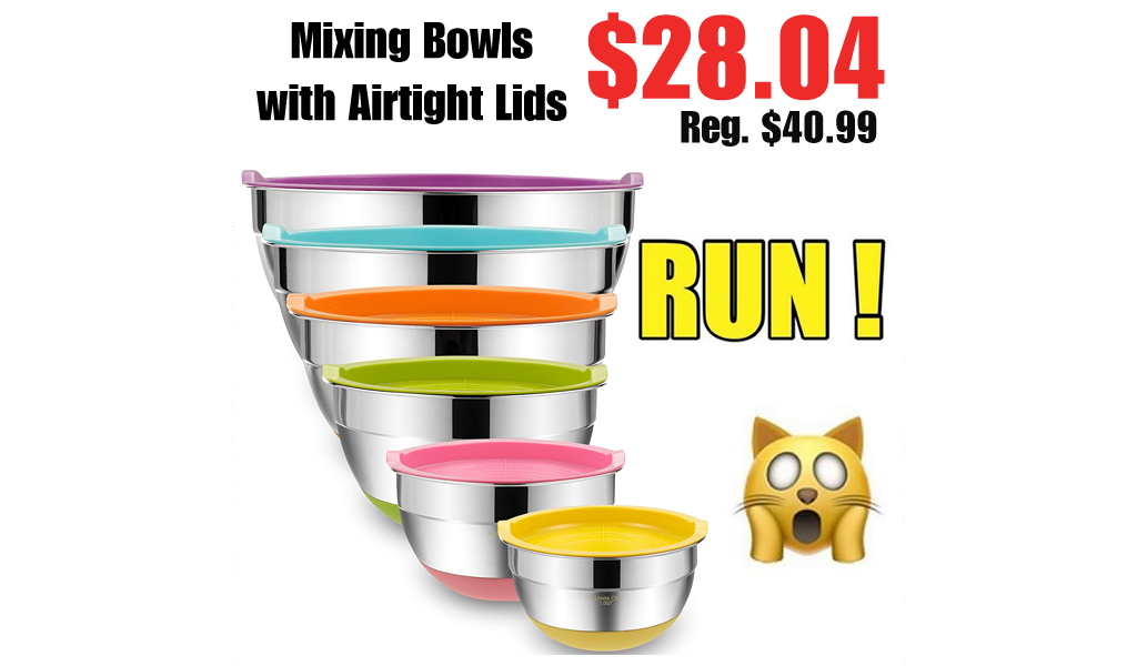 Mixing Bowls with Airtight Lids Only $28.04 Shipped on Amazon (Regularly $40.99)