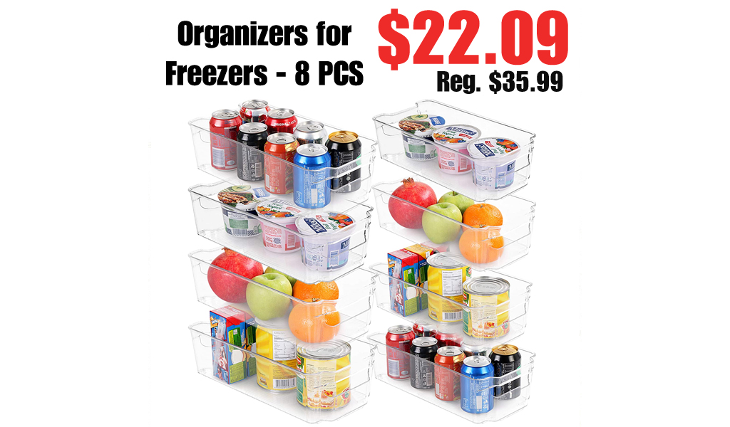 Organizers for Freezers - 8 PCS Only $22.09 Shipped on Amazon (Regularly $35.99)